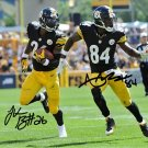 * LE'VEON BELL ANTONIO BROWN SIGNED PHOTO 8X10 RP AUTOGRAPHED PITTSBURGH STEELERS