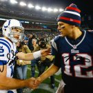 TOM BRADY ANDREW LUCK SIGNED PHOTO 8X10 RP AUTOGRAPHED PATRIOTS COLTS