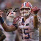TIM TEBOW SIGNED PHOTO 8X10 RP AUTOGRAPHED FLORIDA GATORS FOOTBALL