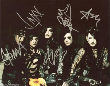 BLACK VEIL BRIDES FULL BAND SIGNED PHOTO 8X10 RP AUTOGRAPHED ANDY BIERSACK