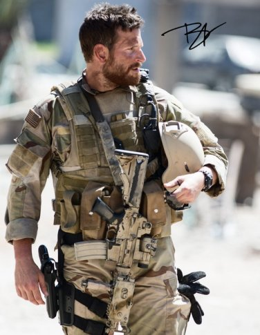 BRADLEY COOPER SIGNED AUTOGRAPHED PHOTO 8X10 RP PICTURE AMERICAN SNIPER