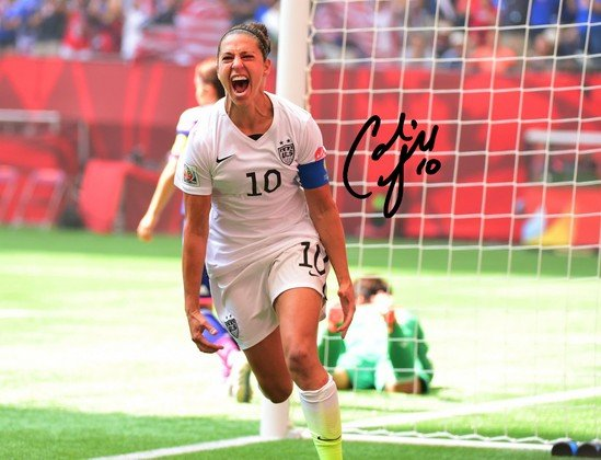 CARLI LLOYD SIGNED PHOTO 8X10 RP AUTOGRAPHED FIFA WORLD CUP WOMENS SOCCER