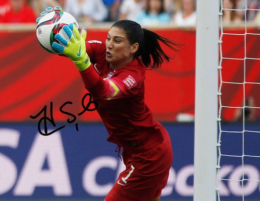 HOPE SOLO SIGNED PHOTO 8X10 RP AUTOGRAPHED FIFA WORLD CUP WOMENS SOCCER