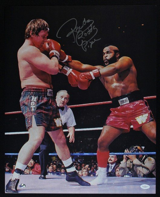 """"""" ROWDY """" RODDY PIPER SIGNED PHOTO 8X10 RP AUTOGRAPHED WWE WWF * WRESTLING"""