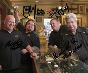 PAWN STARS CAST SIGNED PHOTO 8X10 RP AUTOGRAPHED BY ALL