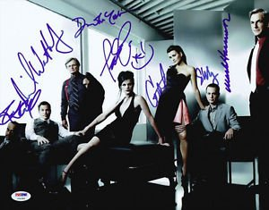 NCIS FULL CAST SIGNED PHOTO 8X10 RP AUTOGRAPHED MARK HARMON PAULEY PERRETTE +