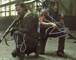ANDREW LINCOLN NORMAN REEDUS SIGNED PHOTO 8X10 RP AUTOGRAPHED THE WALKING DEAD