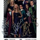 BIG BANG THEORY CAST SIGNED PHOTO 8X10 RP AUTOGRAPHED KALEY CUOCO JIM PARSONS +