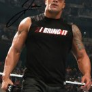"DWAYNE JOHNSON "" THE ROCK "" SIGNED PHOTO 8X10 RP AUTOGRAPHED WWE WRESTLING"
