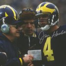 JIM HARBAUGH SIGNED PHOTO 8X10 RP AUTO AUTOGRAPHED W/ BO SCHEMBECHLER MICHIGAN