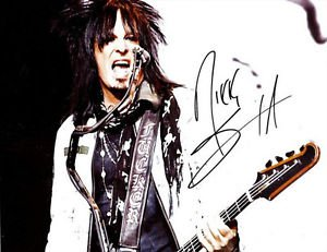 NIKKI SIXX SIGNED PHOTO 8X10 RP AUTOGRAPHED MOTLEY CRUE AM