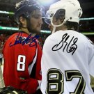 SIDNEY CROSBY ALEX OVECHKIN SIGNED PHOTO 8X10 RP AUTO AUTOGRAPHED