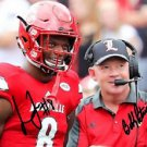 LAMAR JACKSON & COACH BOBBY PETRINO SIGNED PHOTO 8X10 RP AUTOGRAPHED LOUISVILLE