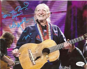 WILLIE NELSON SIGNED POSTER PHOTO 8X10 RP AUTOGRAPHED ON THE ROAD AGAIN !