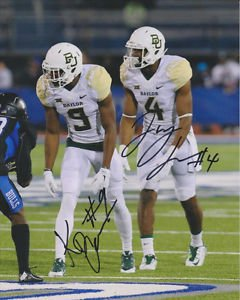KD CANNON JAY LEE DUAL SIGNED PHOTO 8X10 RP AUTOGRAPHED BAYLOR BEARS !