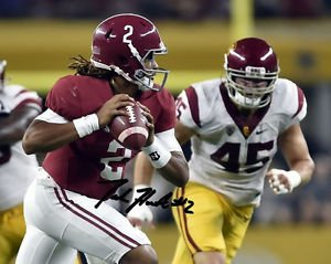JALEN HURTS SIGNED POSTER PHOTO 8X10 RP AUTOGRAPHED ALABAMA FOOTBALL !