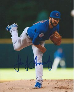 * JAKE ARRIETA SIGNED PHOTO 8X10 RP AUTOGRAPHED CHICAGO CUBS