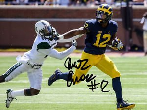 CHRIS EVANS SIGNED PHOTO 8X10 RP AUTOGRAPHED MICHIGAN WOLVERINES