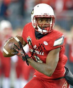LAMAR JACKSON SIGNED PHOTO 8X10 RP AUTOGRAPHED ** LOUISVILLE CARDINALS *