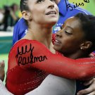 SIMONE BILES ALY RAISMAN SIGNED PHOTO 8X10 RP AUTOGRAPHED 2016 RIO OLYMPICS