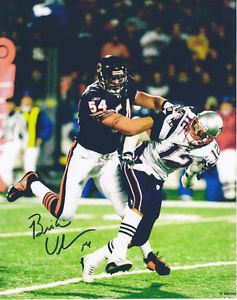 BRIAN URLACHER SIGNED PHOTO 8X10 RP AUTOGRAPHED CHICAGO BEARS SACKING BRADY
