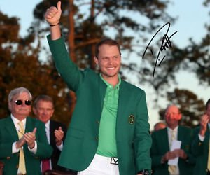 * DANNY WILLETT SIGNED SIGNED PHOTO RP AUTO AUTOGRAPHED 2016 MASTERS CHAMPION