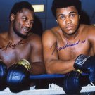 MUHAMMAD ALI JOE FRAZIER SIGNED PHOTO RP AUTO AUTOGRAPHED BOXING LEGENDS