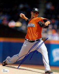 JOSE FERNANDEZ SIGNED PHOTO 8X10 RP AUTOGRAPHED MIAMI MARLINS **
