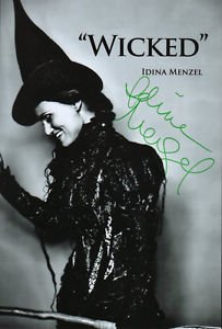 IDINA MENZEL SIGNED PHOTO 8X10 RP AUTOGRAPHED WICKED THE MUSICAL