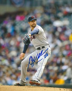 COREY KLUBER SIGNED PHOTO 8X10 RP AUTOGRAPHED CLEVELAND INDIANS !