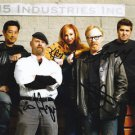 MYTHBUSTERS ORIGINAL FULL CAST SIGNED PHOTO 8X10 RP AUTOGRAPHED GROUP KARI BYRON