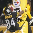 ANTONIO BROWN SIGNED PHOTO 8X10 RP AUTOGRAPHED GOAL POST LEAP !