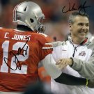 URBAN MEYER CARDALE JONES SIGNED PHOTO 8X10 RP AUTOGRAPHED OHIO STATE BUCKEYES