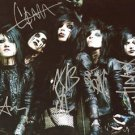 * BLACK VEIL BRIDES FULL BAND GROUP SIGNED PHOTO 8X10 RP AUTOGRAPH ANDY BIERSACK