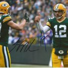 AARON RODGERS & JORDY NELSON SIGNED PHOTO 8X10 RP AUTOGRAPHED GREEN BAY PACKERS