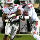 JT BARRETT EZEKIEL ELLIOTT SIGNED PHOTO 8X10 RP AUTOGRAPHED OHIO STATE BUCKEYES