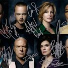 Breaking Bad Full cast signed 8x10 photo Autographed Aaron Paul Bryan Cranston +