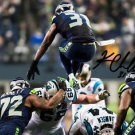 * KAM CHANCELLOR SIGNED PHOTO 8X10 RP AUTOGRAPHED SEATTLE SEAHAWKS JUMP