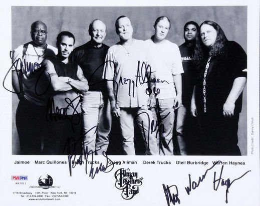 ALLMAN BROTHERS GROUP BAND SIGNED PHOTO 8X10 RP AUTOGRAPHED GREGG ALLMAN
