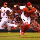 * YADIER MOLINA SIGNED PHOTO 8X10 RP AUTOGRAPHED ST LOUIS CARDINALS