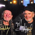 WILLIE NELSON & MERLE HAGGARD SIGNED PHOTO 8X10 RP AUTOGRAPHED COUNTRY LEGENDS