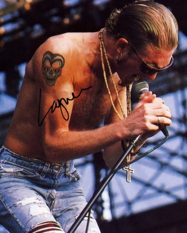 LAYNE STALEY SIGNED PHOTO 8X10 RP AUTOGRAPHED ** ALICE IN CHAINS