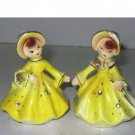 Enesco Girls Wearing Rhinestones Salt & Pepper Shakers