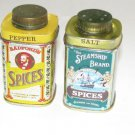 Spice Tins Salt & Pepper Shakers