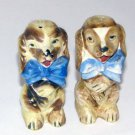 Dogs Wearing Bow Ties Salt & Pepper Shakers
