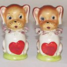 Dogs Wearing Hearts Salt & Pepper Shakers