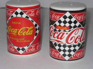 Enesco Coca Cola Salt & Pepper Shakers
