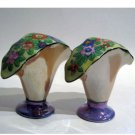 Fan Shaped Floral Vase Salt & Pepper Shakers