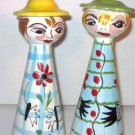Italian Hand painted Figural Salt & Pepper Shakers