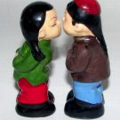 Kissing Chinese Boy & Girl Couple Salt & Pepper Shakers